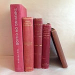 Image of Red Antique Collected Books - Set of 5