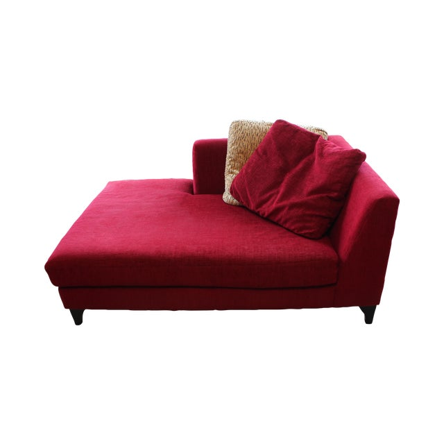Red Chaise Lounge Chair Chairish