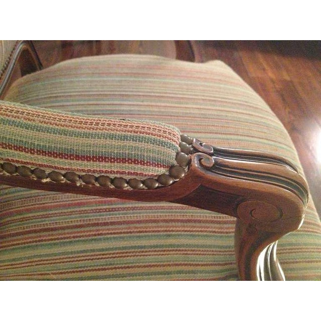 Pair of French Walnut Upholstered Armchairs - Image 9 of 11