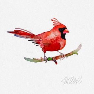 Red Cardinal Watercolor Print