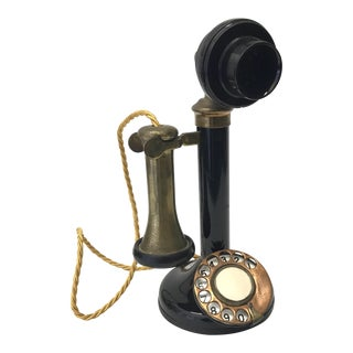 Antique Black Candlestick Telephone
