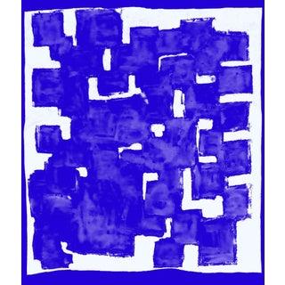 Suga Lane - Blue Block Thought Modern Print