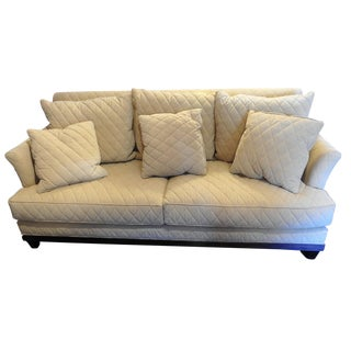 Henredon Duck Feather Tuscan Quilted Sofa