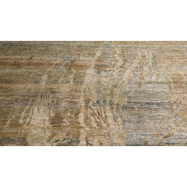 """Abstract Hand-Knotted Rug - 8′ × 9′11"""" - Image 8 of 10"""