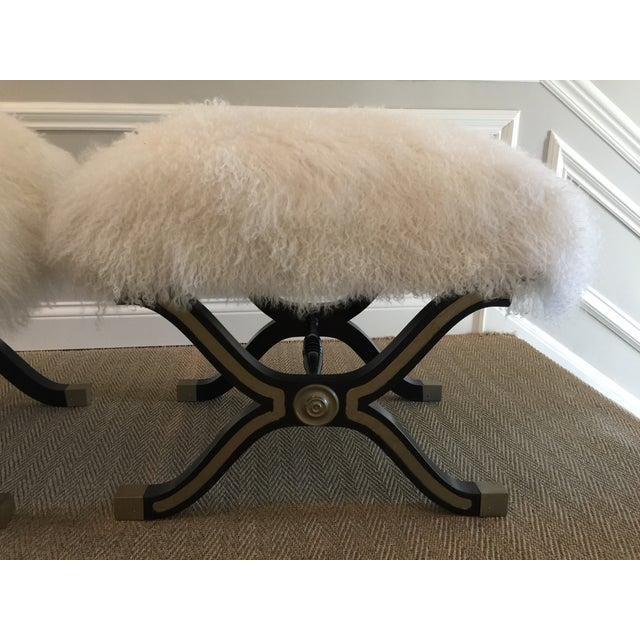 Image of X Stools or Benches, Dorothy Draper Style - Pair