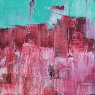 Alizarin, Crimson, Turquoise & Blue Abstract