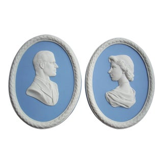 Wedgwood Coronation Commemorative Plaques - A Pair