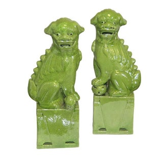 Green Foo Dogs - A Pair