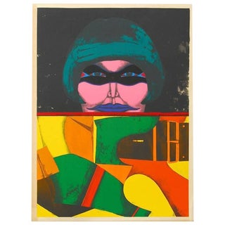 "1971 ""Masked Woman"" Print by Richard Lindner"
