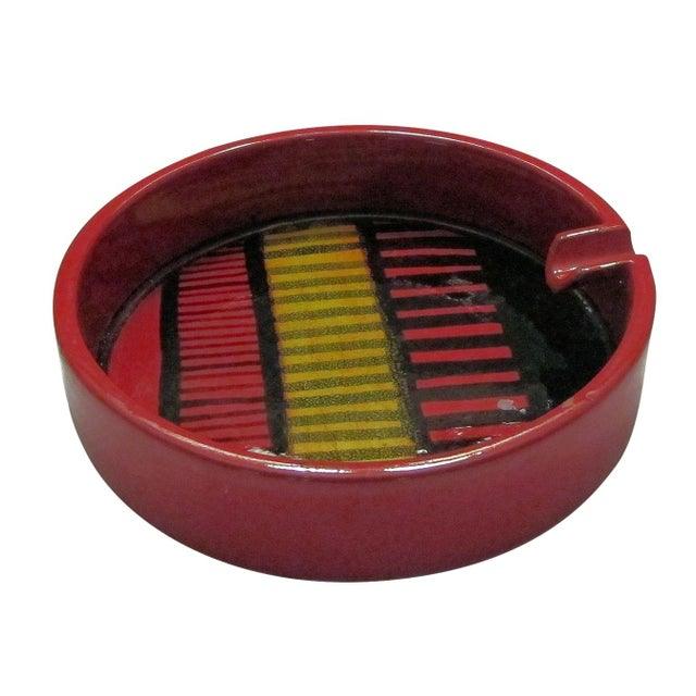 1960s Red Ash Tray Chairish