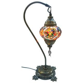 Multicolor Mosaic Pendant Table Lamp