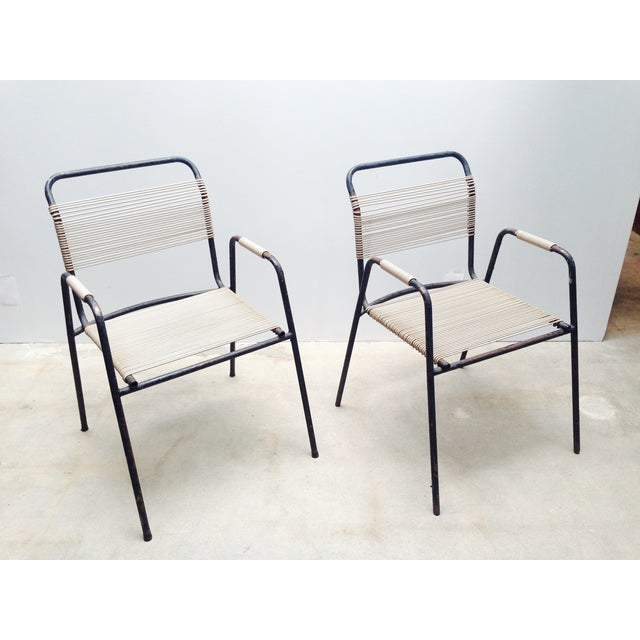 Rare Exterior Corded Ames Aire Arm Chairs - A Pair - Image 2 of 7