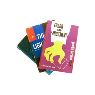 Vintage Bold Neon Mystery Books - Set of 3
