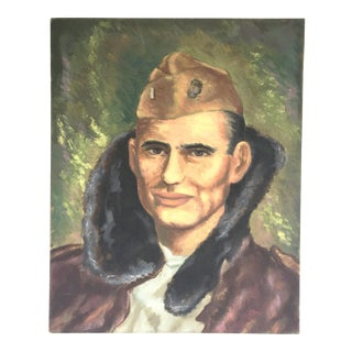 Vintage Oil Painting Portrait of a Soldier