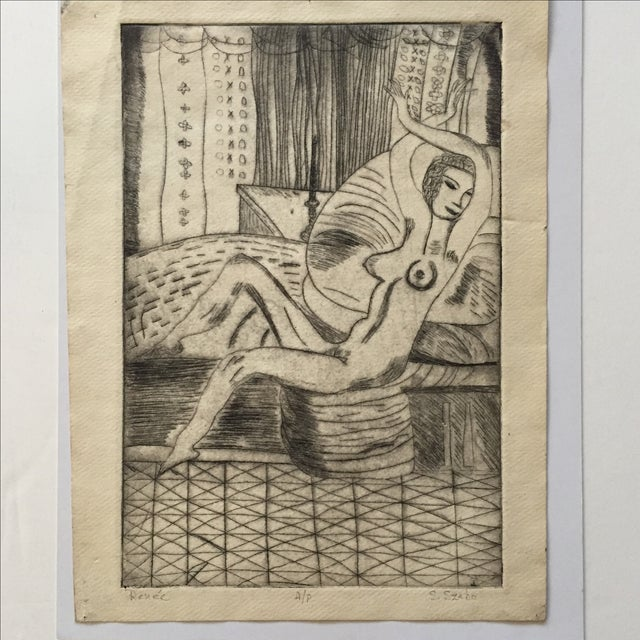 """Lithograph """"Renee"""" by S.Szabo - Image 3 of 10"""