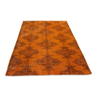 Ori̇ental Turki̇sh Overdyed Rug - 4′4″ × 7′2″