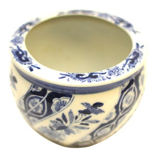 Vintage Chinese Blue & White Planter