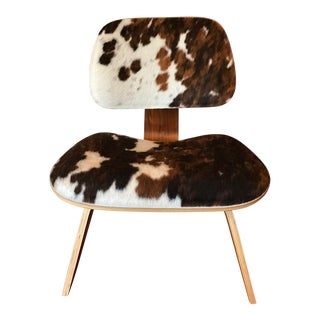 Hold It Eames Style Molded Plywood Pony Hair Chair