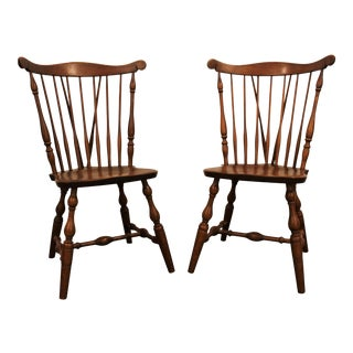 Bent Bros. Maple Brace-Back Windsor Dining Chairs