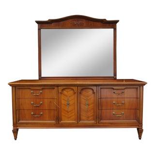 United Furniture Nine Drawer Dresser with Mirror