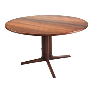 Vintage Danish Rosewood Round Dining Table