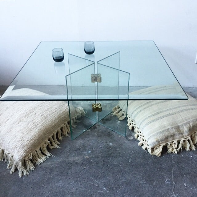 Leon Rosen Pace Collection Glass Coffee Table - Image 10 of 10