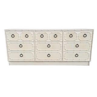 Faux Bamboo Dorothy Draper 9 Drawer Dresser