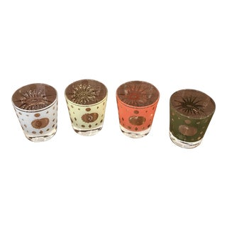 1960's George Briard Low Ball Glasses - Set of 4