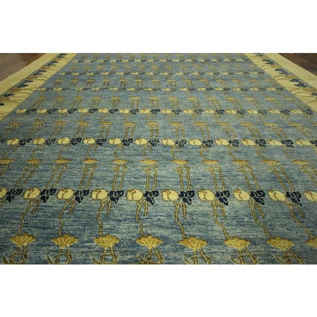 Super Gabbeh Blue Wool Rug - 9' x 12' - Image 6 of 10