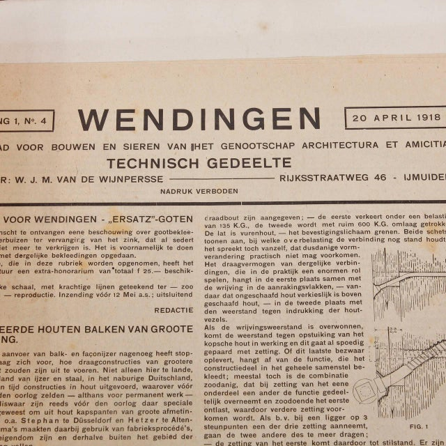 Wendingen, April 1918, Lithograph by C. J. Blaauw - Image 6 of 6