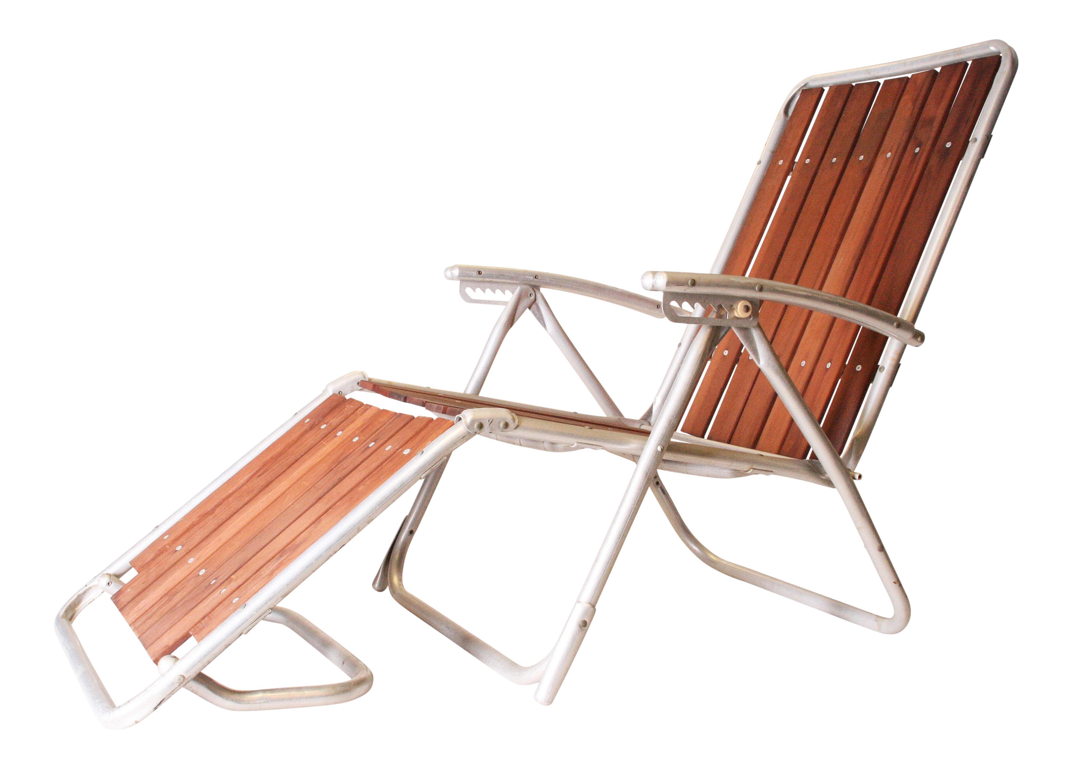 Mid Century Redwood Aluminum Folding Chaise Lounge Chair  sc 1 st  Chairish : redwood chaise lounge - Sectionals, Sofas & Couches