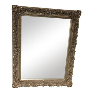Ornately Carved & Silver Leafed Wall Mirror