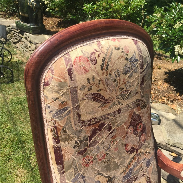 Vintage Victorian High Back Parlor Chairs - A Pair - Image 11 of 11