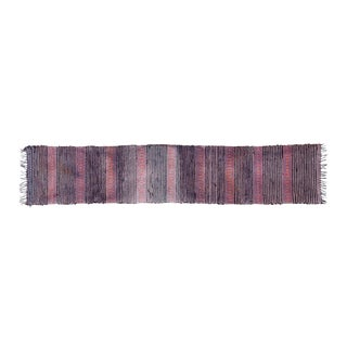 Antique Swedish Handwoven Runner- 1′ × 8′3″