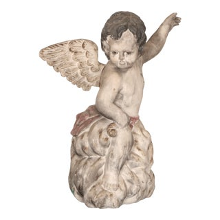 Antique Carved Wooden Angel