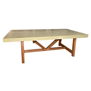 "96"" Concrete Top Dining Table"
