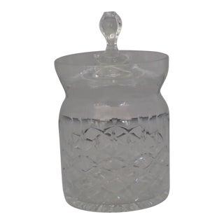 Vintage Dimond Design Cut Crystal Lidded Jam Jar