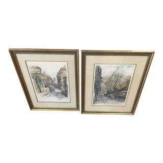 Robert Kasimir Framed Paris Prints- A Pair