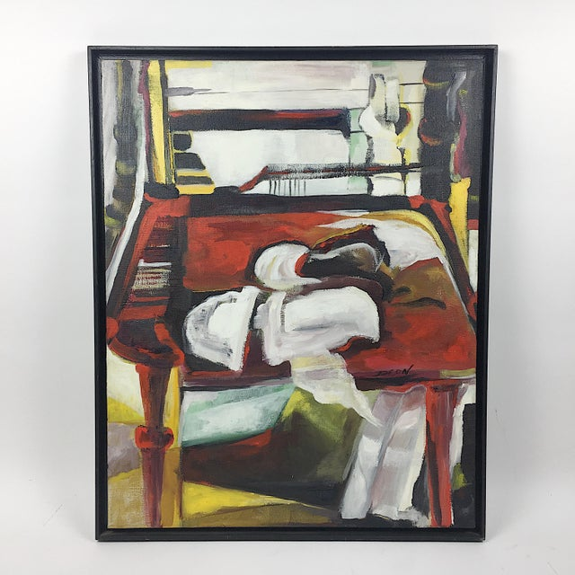Deon Robertson Framed Still Life Oil on Canvas Painting - Image 2 of 7