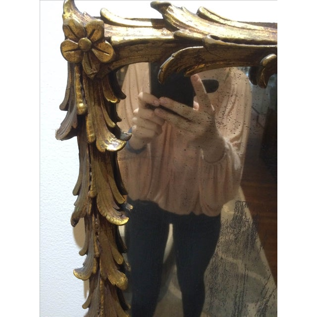 Vintage 1950s Rectangular Gilded Mirror - Image 5 of 8