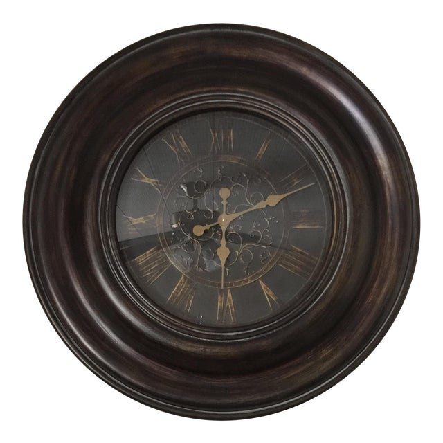 Bronze Finish Traditional Wooden Clock - Image 1 of 5