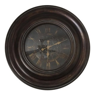 Bronze Finish Traditional Wooden Clock