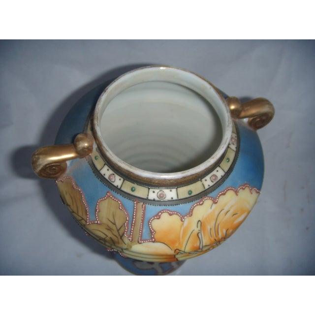 Powder Blue & Peach Nippon Vases - A Pair - Image 8 of 9