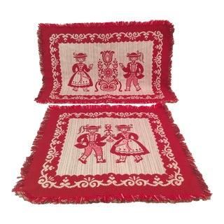 Mid-Century Austrian Textiles - A Pair