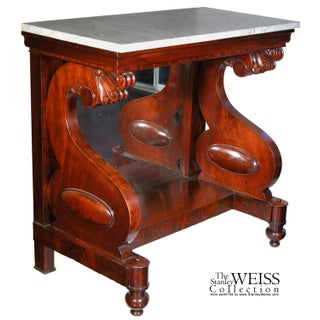 Classical Marble Top Mahogany Pier Table