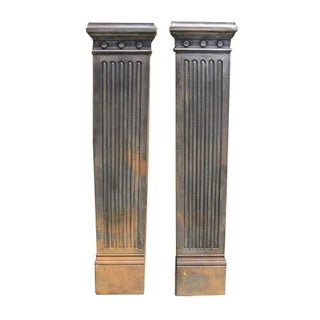 English Cast Iron Pilasters - A Pair