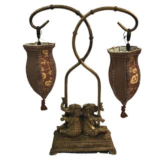 Dual Light Elephant Table Lamp
