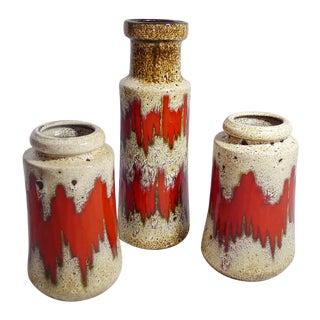 Vintage German Modernist Vases - Set of 3
