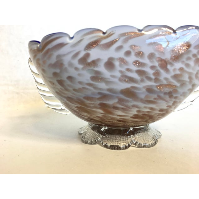 Blue & Gold Blown Glass Bowl - Image 5 of 8