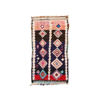 Vintage Azilal Handwoven Rug - 3′11″ × 7′4″